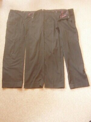 "2 x NEXT BOYS BLACK SCHOOL TROUSERS SIZE 30"" S 76CM REGULAR FIT"