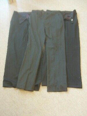 "3 x NEXT BOYS BLACK CHARCOAL SCHOOL TROUSERS SIZE 30"" R 76CM REGULAR FIT"
