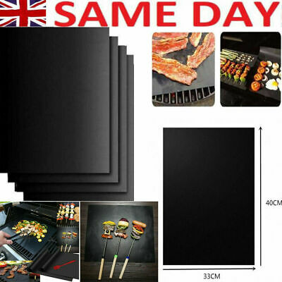 New BBQ Grill Mat Teflon Reusable Sheet Resistant Non-Stick Barbecue Bake Meat