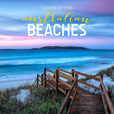 Australian Beaches 2020 Square Wall Calendar by Browntrout Free Post Beach