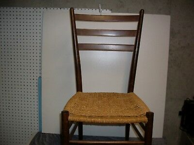 Classic Ladderback Side/corner Chair.  Woven rush seat, quality crafted hardwood