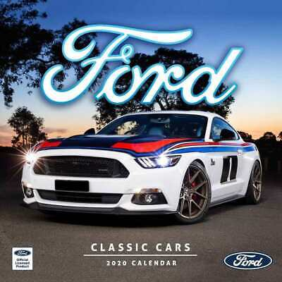 Classic Ford Cars 2020 Square Wall Calendar by Browntrout 30 x 30cm Mustang