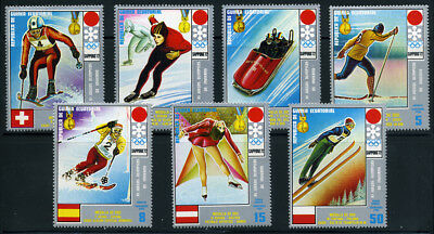 Winter Olympic Games Sapporo 1972 Skiing Luge Skating MNH Equatorial Guinea