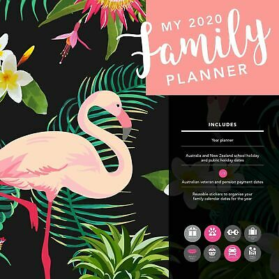 My Family Planner 2020 Square Wall Calendar by Browntrout FREE POST