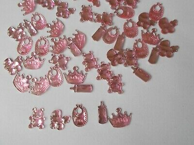 50 Pink Mixed Baby Shower Confetti Table Sprinkles Decorations . #002 Free P&P