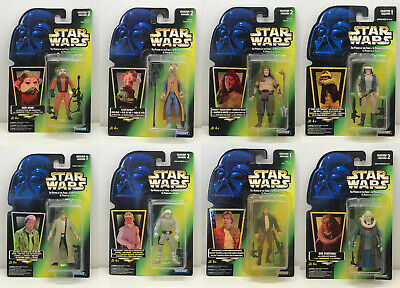 Hasbro Star Wars Power of the Force Lot of 8 Green Card Figures