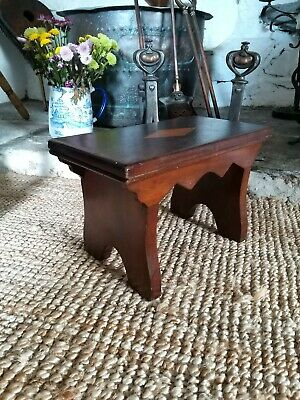 A Gorgeous Victorian Footstool Cracket Stool Apprentice Piece ?