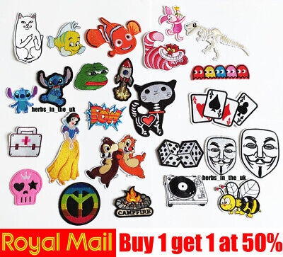 Kids Cartoon Patches Badges Iron On Sew On