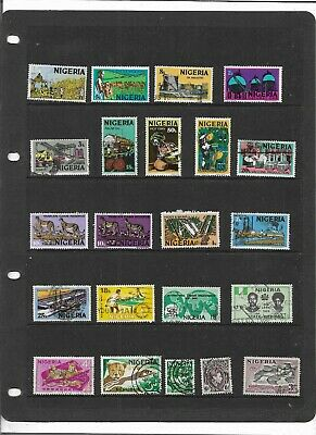Commonwealth NIGERIA One Stock Sheet Mixed Used Stamps Collection