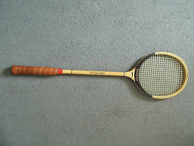 Vintage Slazenger Wooden Squash Racket The Whippet with Cover