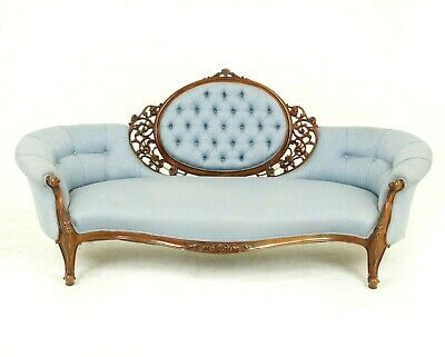 Victorian Chaise Lounge, Antique Loveseat, Vintage Settee, Scotland 1870, B1528