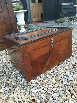 A Lovely Inlaid Large Chest Made From 17th Century Parts