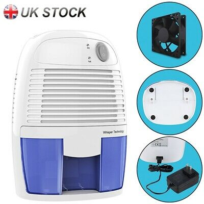 Mini Thermo Electric Air Dehumidifier Damp Moisture Small Rooms Bedroom 500ml UK