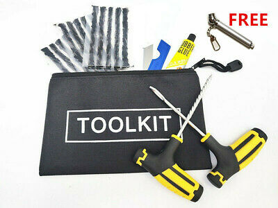 Motorcycle Car Van Tubeless Tyre Puncture Easy Repair Kit Tool Emergency