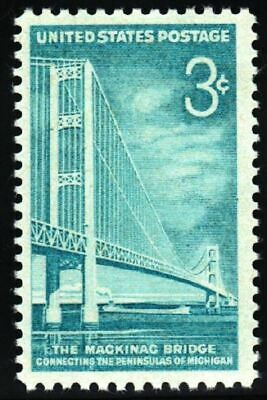 US SC # 1109 3c MACKINAC BRIDGE 1958 MNH