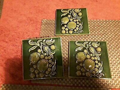 Vintage Green  Tiles  Glazed x3 / 9 more available
