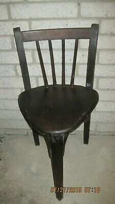 Antique 3 Legged, Snug Chair Used In A Tavern Table In 1915..so Its About 103 Ye