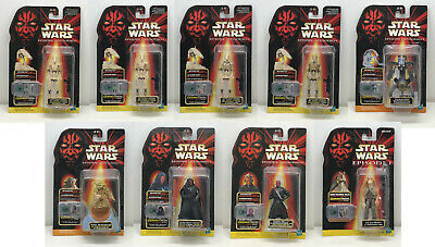 Hasbro Star Wars Episode I Lot of 9 Carded Figures