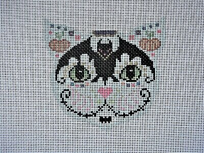 """""""Cat Face"""" Handpainted Needlepoint Canvas"""