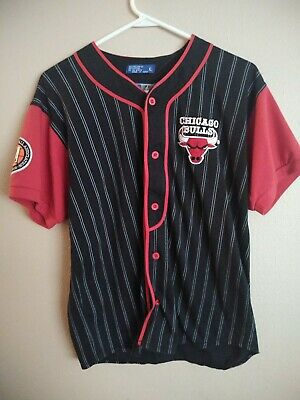 info for 26418 6cfd7 VTG STARTER JERSEY Chicago Bulls Baseball Red Pinstripe Youth XL 90's NBA  Jordan
