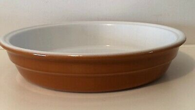 """Emile Henry  11"""" Round Burnt Orange Roasting Oven to Table Dish - Made In France"""