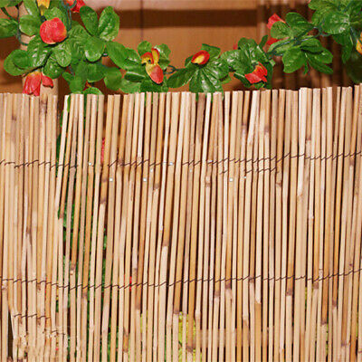 Natural Peeled Reed Fence Screening Garden Privacy 4m Long Wall Fencing Shelter