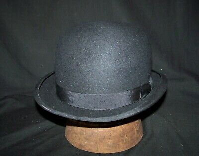 Vintage Brooks Brothers Bowler/Derby (black 7 1/8)