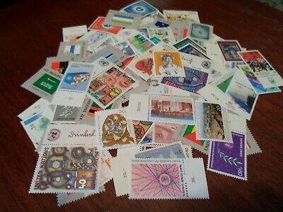 Collection lot 100 different MNH stamps of United Nations