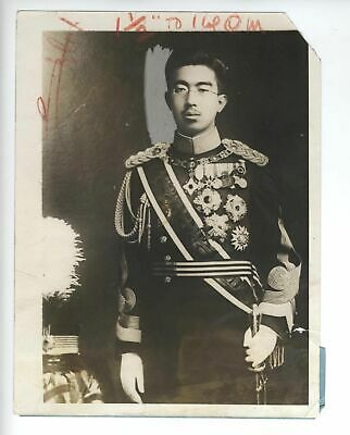 1928 Vintage Emperor Hirohito Photo Japan Marriage Brother Chichibu Original 裕仁