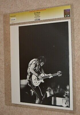 1982 Rolling Stones Ron Woods  Ken Regan Photographer 8X10 Vintage