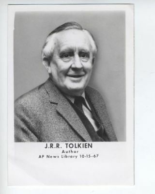 J.R.R. TOLKIEN The Lord of the Rings original photo from 1967 very rare Hobbit