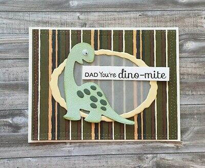 Handmade Fathers Day Card Dad You're Dino-Mite Happy Father's Day Dinosaur