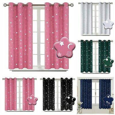KIDS BEDROOM BLACKOUT Curtains Cute Fish Printed Sheer Voile ...