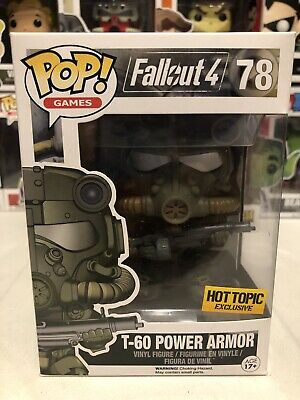 Funko Pop Games 78 Fallout T-60 Power Armor Hot Topic Exclusive