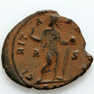 Unidentified Ancient Coin of Roman Empire. Bronze follis with attractive details