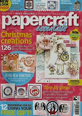 Papercraft Essentials  Magazine Issue 152  2017 Free Snowflake  Penguin Die Set