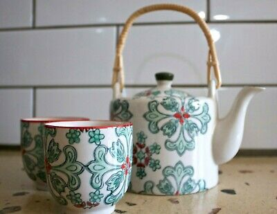 T2 Teapot set - Tea for Two set (Green Tea set) - New in box - Never used