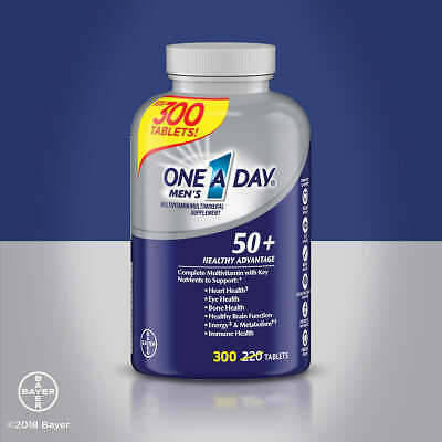 One A Day Mens 50+ Multivitamin, 300 Tablets Vitamins
