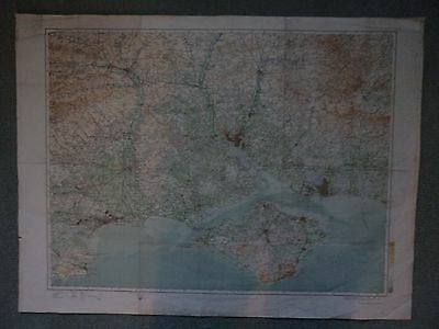 "0.5"" Ordnance Survey Map 38 Soutlhampton Gosport Salisbury Ryde Shanklin Godshil"