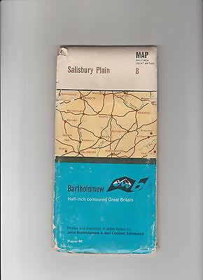 Barts Map 8 as Ordnance Survey 1966 Salisbury Plain Inc. Malmsbury, Winchester