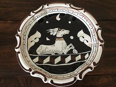 Siena Italy A Amano Hand Painted Deer Art Pottery Bowl/plate 8.5""