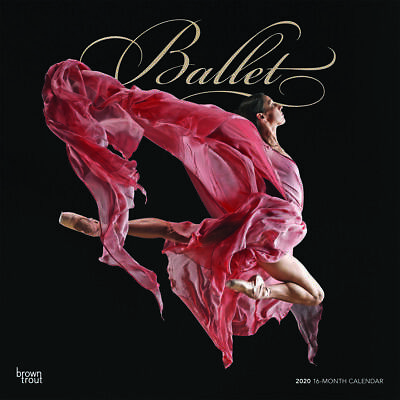 Ballet 2020 Square FOIL Wall Calendar by Browntrout Dance Free Post