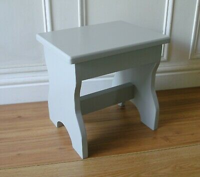 stool step stool small childs seat shabby chic rustic painted