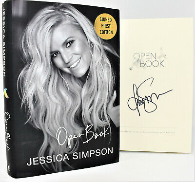 !!SIGNED LIMITED!! OPEN BOOK Autographed by Jessica Simpson hx (1st Print) +COA