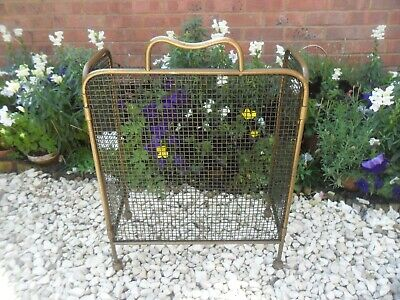 Very Old Brass  Fire Screen
