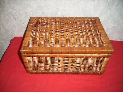 Small Wicker Box with Lid