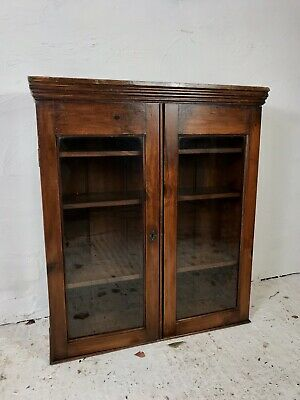 Antique Victorian Pine Library Table Top Bookcase