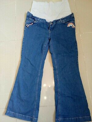 Little Bird maternity Jools Oliver jeans rainbow blue denim 18 over under bump