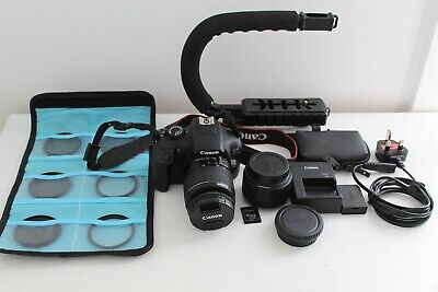 CANON EOS 1300D DSLR Camera KIT w/ 18-55mm II IS Lens + LOTS