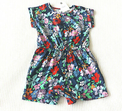 Next Baby Girls Navy Floral Playsuit Age 6-9 Months  BNWT